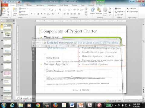 Lecture 3A: Project Charter and Statement of Work