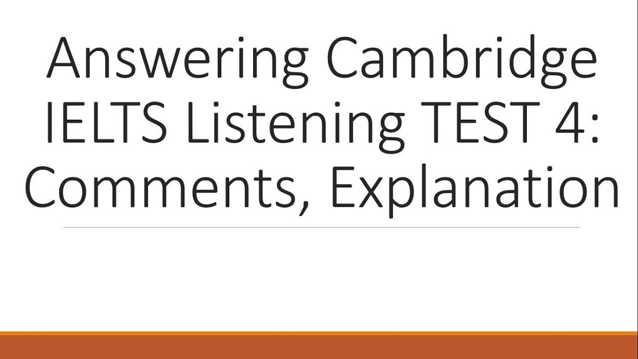 Answering Cambridge IELTS 11 Listening Test 4 with explanation- Dr  Mahmoud  Ibrahim