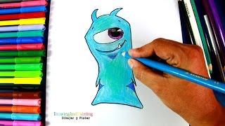 How to draw CHILLER (Slugterra) | Cómo dibujar a la babosa Congelada (Bajoterra)