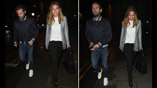 Juan Mata and girlfriend Evelina hit the town ahead of Manchester United's clash with Tottenham