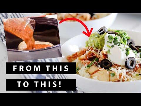 slow-cooker-salsa-chicken-in-cauliflower-rice-bowls