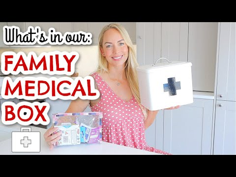 WHAT'S IN OUR FAMILY MEDICAL BOX / FIRST AID KIT & TRAVEL FIRST AID KIT  |  Emily Norris