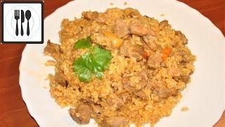 Плов - Рецепт плова из индейки с булгуром и перцем. Вкусный и полезный. ПП рецепт