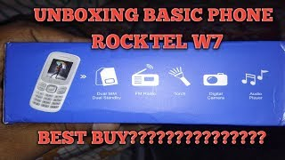 BEST BUDGET PHONE ONLY 559/- UNBOXING AND QUICK REVIEW OF ROCKTEL W7 IN HINDI