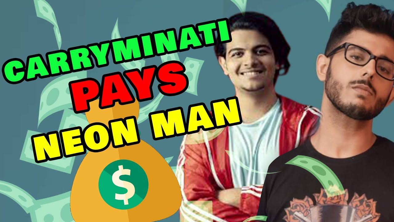 WHAT ! CARRYMINATI PAID NEON MAN FOR FAKE NEWS