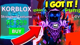 BUYING THE STRONGEST COSTUME IN HALLOWEEN SIMULATOR TO DEFEAT THE BOSS! (Roblox)