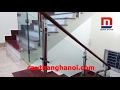 Cầu thang kính Gao Bao trụ hộp vuông 10x60 thi công tại Hưng Yên mp3 indir