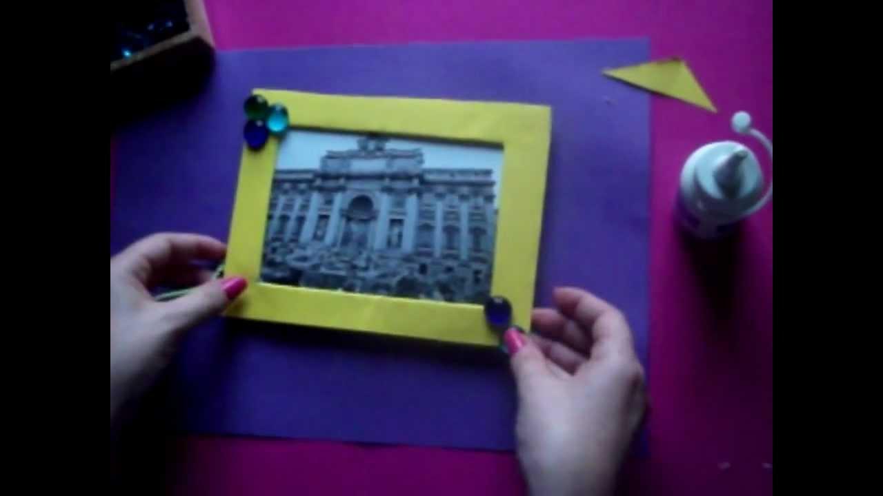 Como hacer un marco de fotos - YouTube
