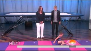 you ll flip out watching this 3 year old gymnast on ellen