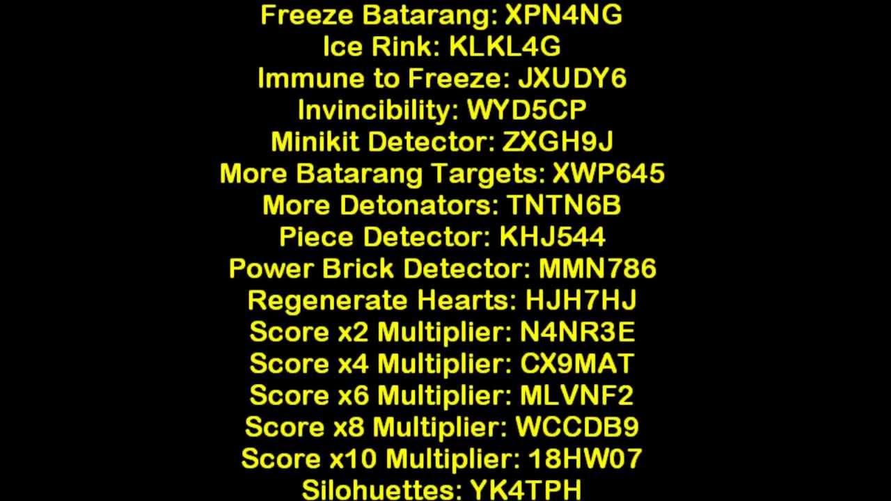 LEGO Batman todos os códigos PS2 - YouTube