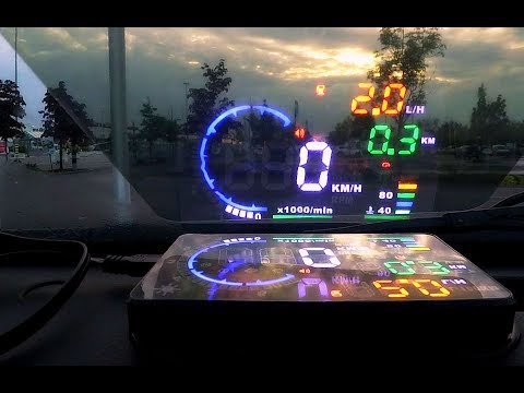"HUD Car Head Up Display A8 5.5"" OBDII Montage und Test Review"