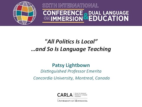 """""""All Politics Is Local""""…and So Is Language Teaching"""