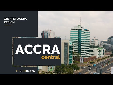 ACCRA CENTRAL [ 4K AERIAL TOUR]