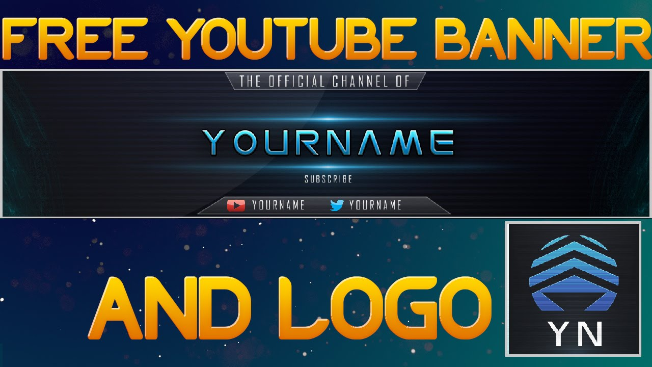 free youtube banner amp logo download link psd file youtube