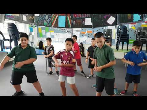 Tui Glen School - boys pasifika dance practice