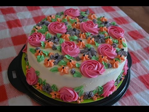 Buttercream Garden Cake A Breath Of Spring In The Fall Piped