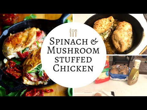 Stuffed Chicken || With || Mushrooms | Spinach & Cheese || Dinner Ideas ||