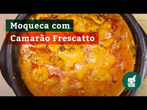 Receita de Moqueca de Camarão Frescatto