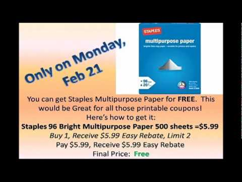 Staples Paper Deal