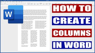How to create columns in Word | Microsoft Word Tutorials