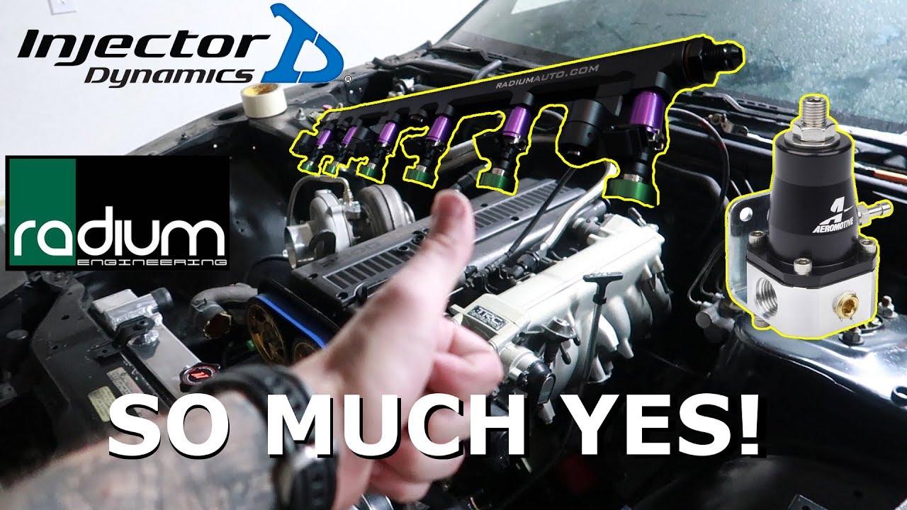 Injector Dynamics & Radium Engineering Fuel Rail UPGRADE + Aeromotive FPR