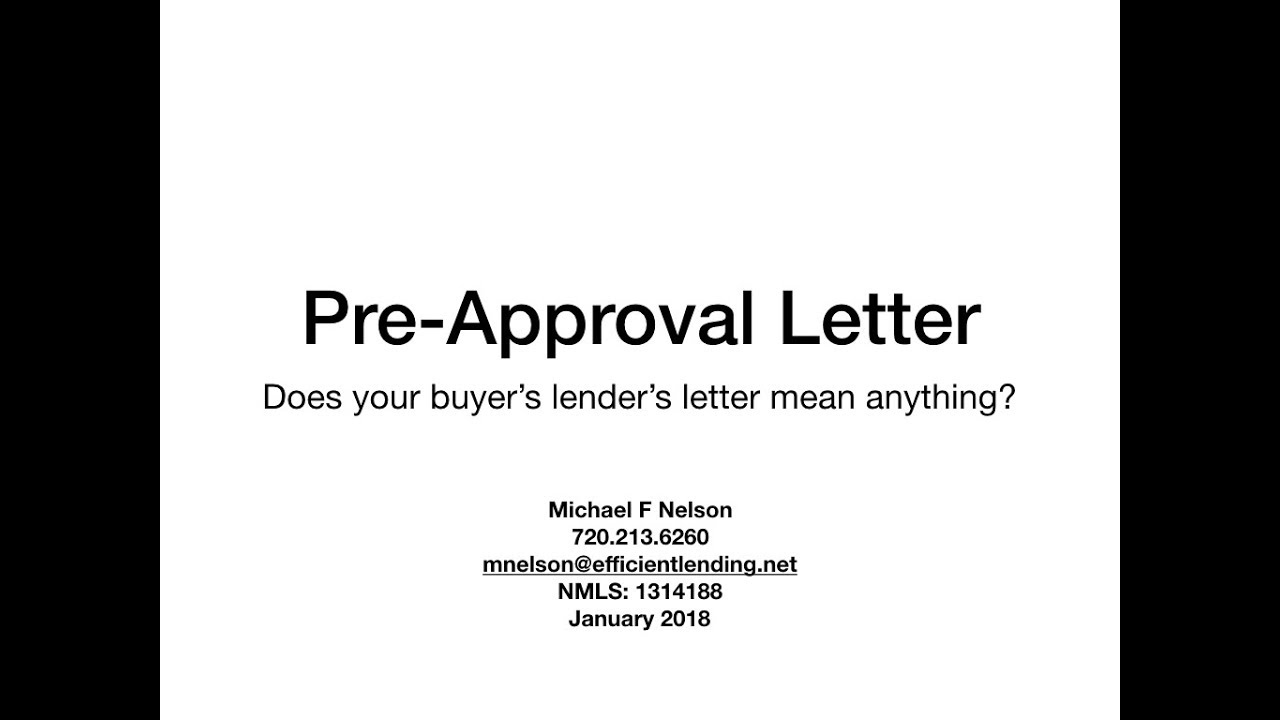 3 Questions To Determine the Quality Of Your Pre-Approval