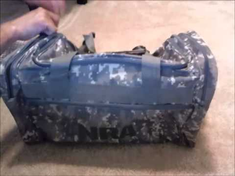 NRA digital camo range bag - YouTube