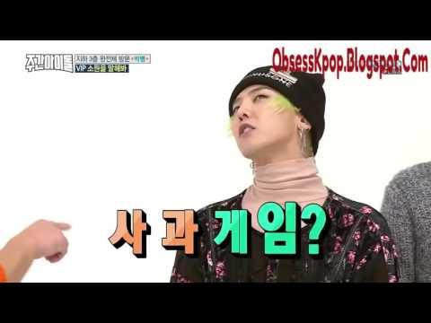 BigBang Weekly Idol Apple Game And Jump Game Eng Sub
