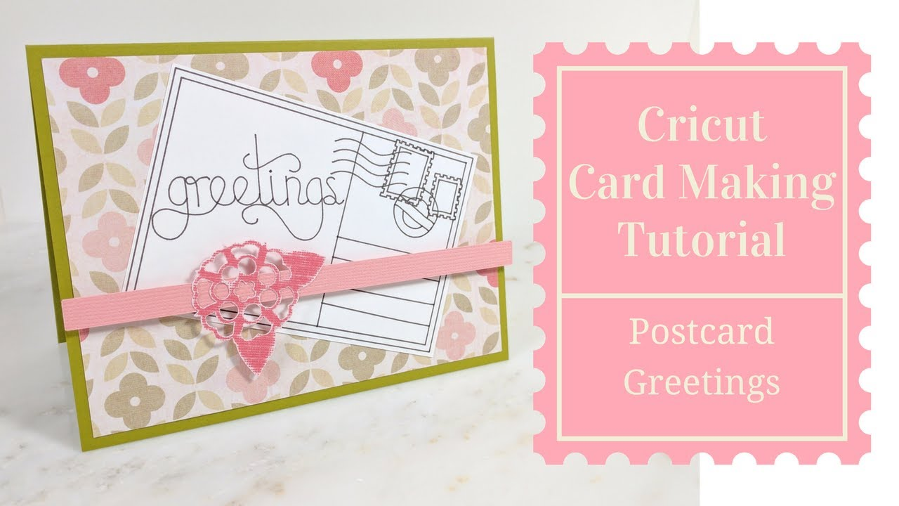 Postcard greetings cricut card making tutorial frugal crafting postcard greetings cricut card making tutorial frugal crafting challenge 13 m4hsunfo