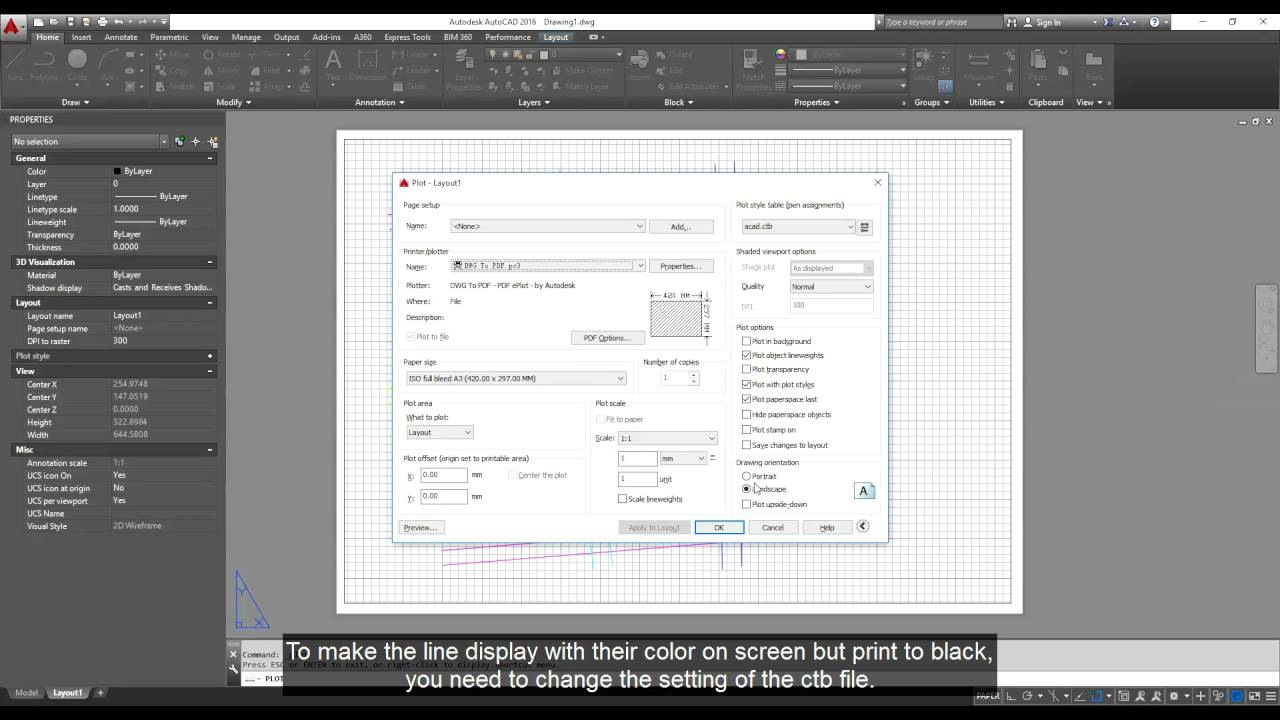 Autocad Print Color