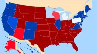 U.S. 2016 Election Map Lapsed