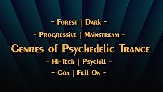 8 가지 장르의 Psytrance