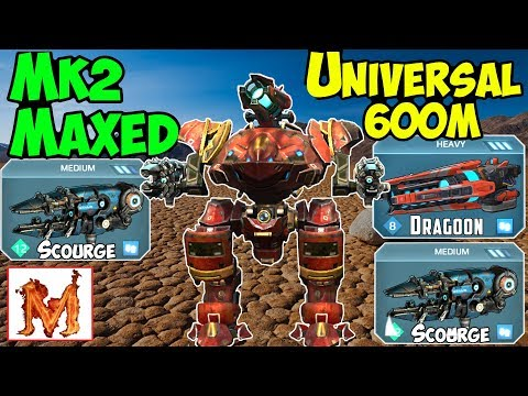 War Robots Mk2 Maxed Scourge & Dragoon Inquisitor Gameplay - WR