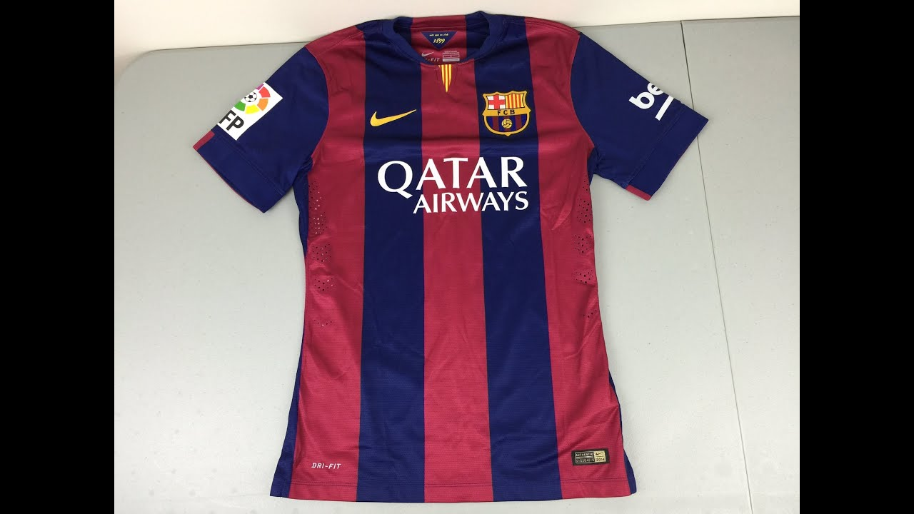 reputable site f151f ee455 2014-2015 Nike Authentic Barcelona Home Jersey Review
