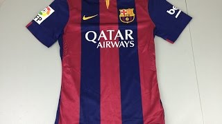 This is a review video of the new 2014/15 authentic barcelona home jersey.