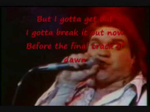 Meat Loaf - Bat out of hell with lyrics (on the screen)