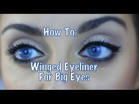 how to winged eyeliner for big eyes youtube. Black Bedroom Furniture Sets. Home Design Ideas