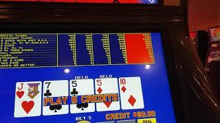Live video poker Ballys Las Vegas