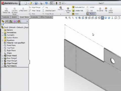 SolidWorks Sheet Metal How to Start a Part