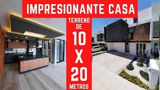 IMPRESIONANTE CASA EN TERRENO DE 10 X 20