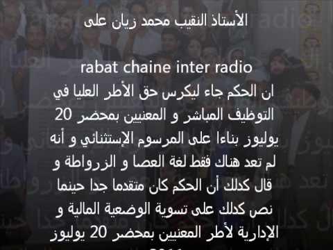 محمد زيان  Rabat Chaine Inter Radio || 24.05.2013