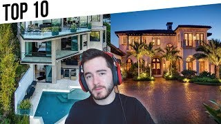 Top 10 MOST EXPENSIVE YouTuber Homes (Kwebblekop, FaZe House, OpTic, CaptainSparklez)