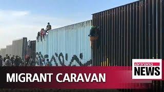 first migrant caravan reaches us border in tijuana