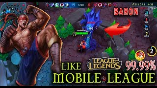 Mobile League (5v5) - Leesin Like LOL 99.99% (Android/IOS Gameplay)