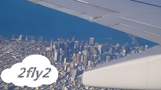 UNITED AIRLINES Vancouver-San Francisco Boeing 737 economy class HD