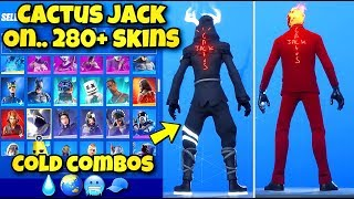 """NEW """"CACTUS JACK"""" BACK BLING Showcased With 280+ SKINS In Fortnite! (BEST CACTUS JACK COMBOS)"""