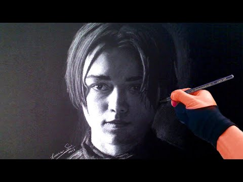 Arya - Game of Thrones Portrait Art Video - ThePortraitArt