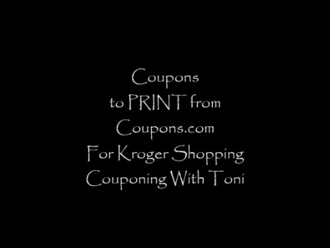 Coupons To Print For Kroger Shopping