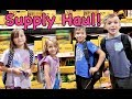 SCHOOL SUPPLIES SHOPPING FOR 6 KIDS | Girls Vs Boys SCAVENGER HUNT