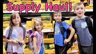 SCHOOL SUPPLIES SHOPPING FOR 6 KIDS | Girls Vs Boys SCAVENGER HUNT
